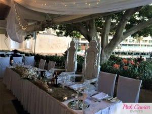 bridal table white thrones wedding WM