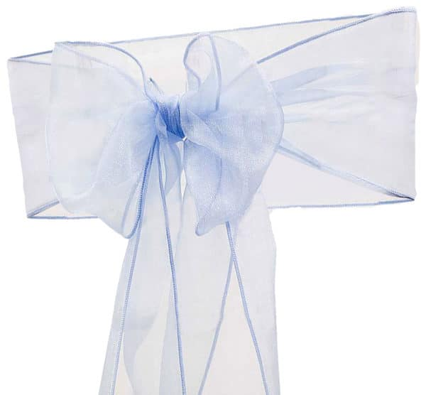 Organza Chair Sash - Baby Blue