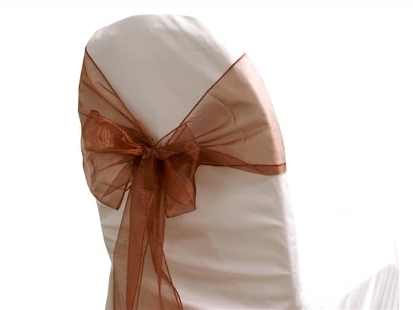 Organza Chair Sash - Chocolate