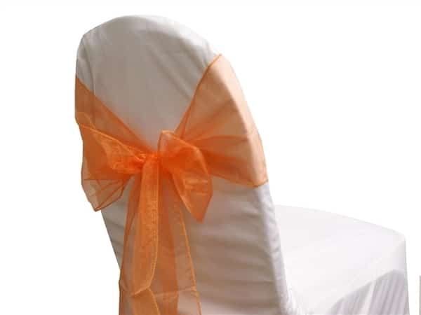 Organza Chair Sash - Orange