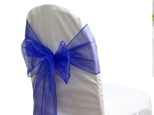 Organza Chair Sash - Royal Blue