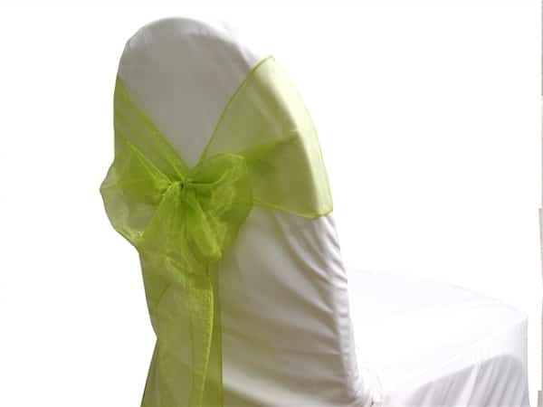 Organza Chair Sash - Sage Green
