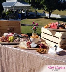 outdoor grazing snack table WM