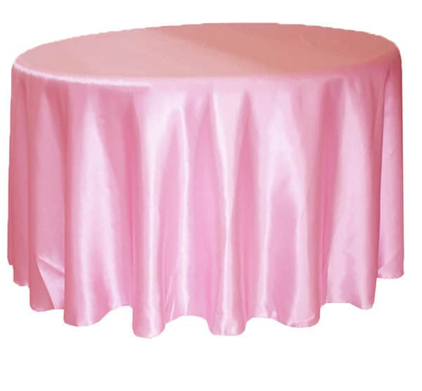 Satin Pink Tablecloths