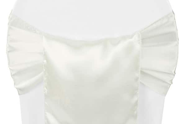 Satin Chair Sash - Ivory