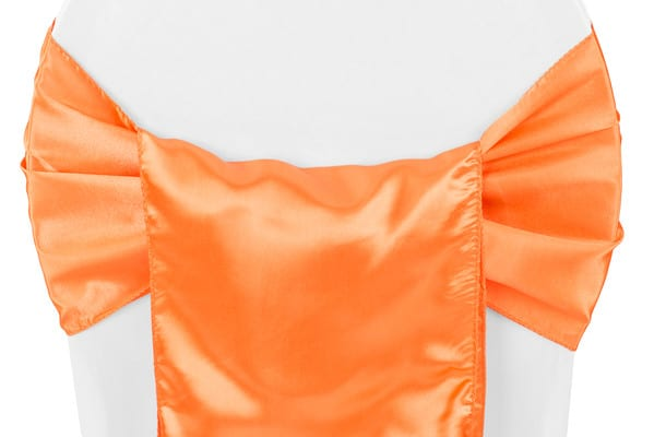 Satin Chair Sash - Orange