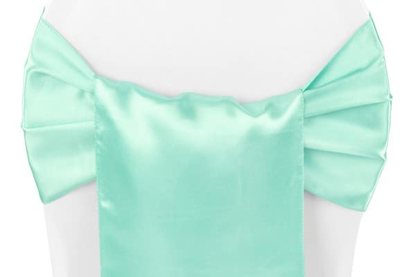 Satin Chair Sash - Tiffany Green