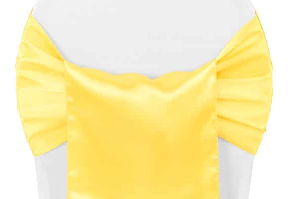 Satin Chair Sash - Yellow