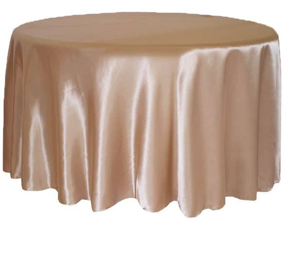 Satin Round Table Cloth - Champagne 3m 120inch