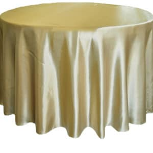 Satin Round Table Cloth - Gold 3m 120inch