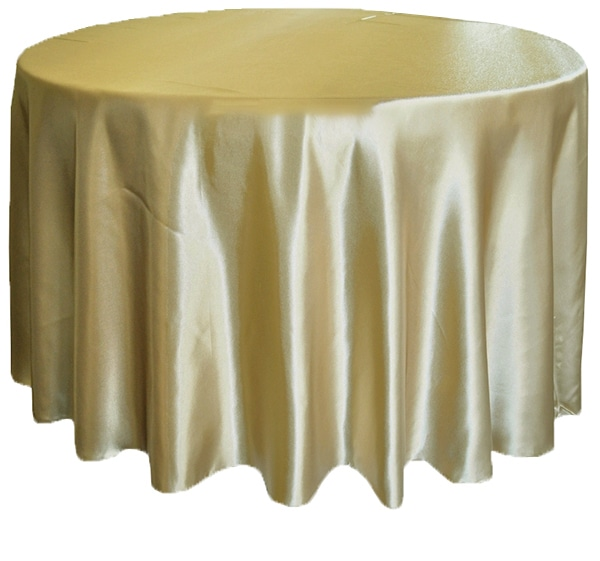 Round Table With Tablecloth.Satin Round Tablecloth