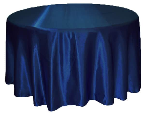 Satin Round Table Cloth - Navy 3m 120inch