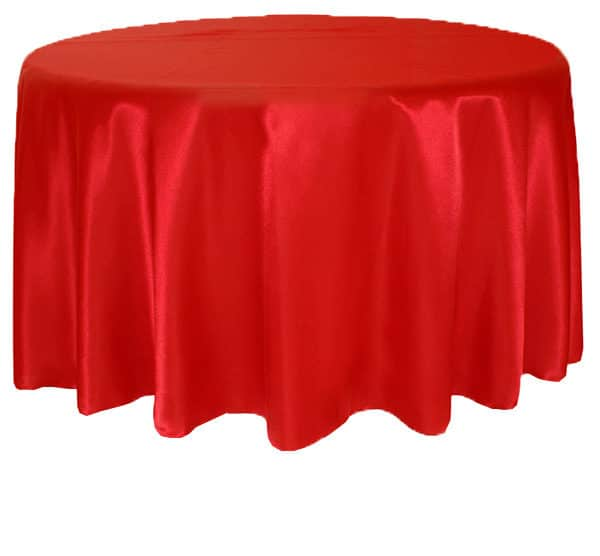 Satin Round Table Cloth - Red 3m 120inch