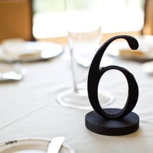 Black table number freedtanding