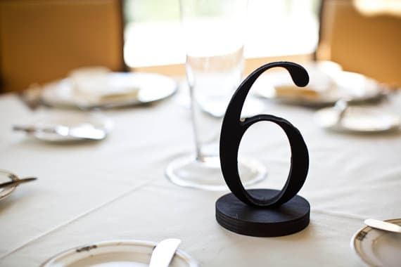 Black table number freedtanding