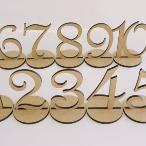 Table Numbers Raw Timber Look