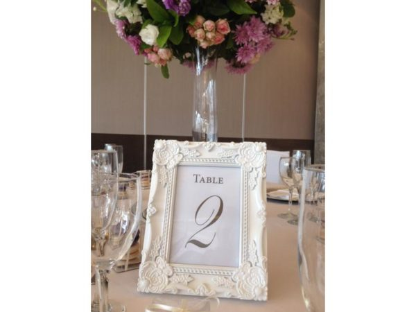 Table Numbers - White Framed