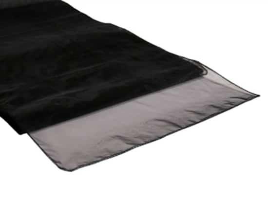 Organza Table Runner - Black