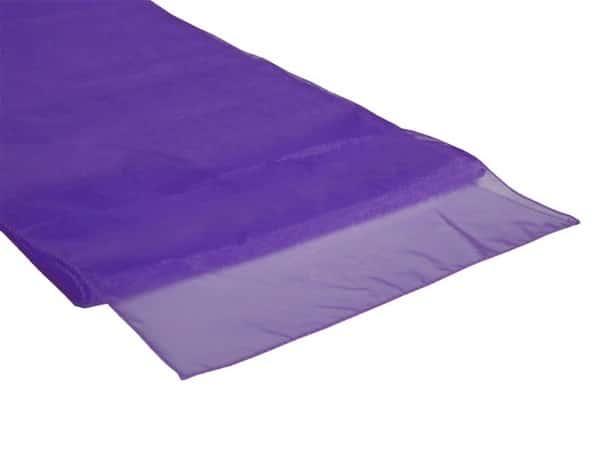 Organza Table Runner - Cadbury Purple