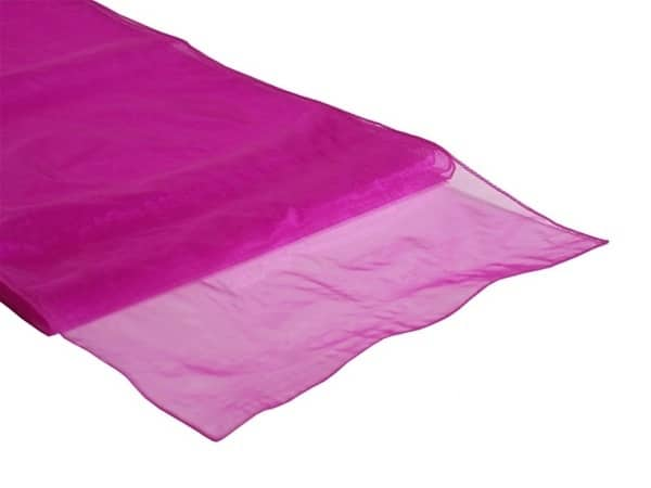 Organza Table Runner - Hot Pink
