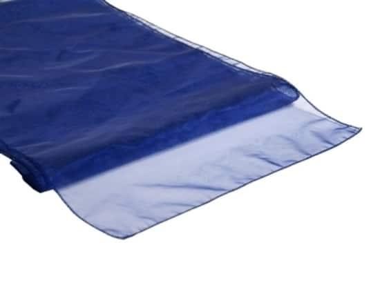 Organza Table Runner - Navy Blue