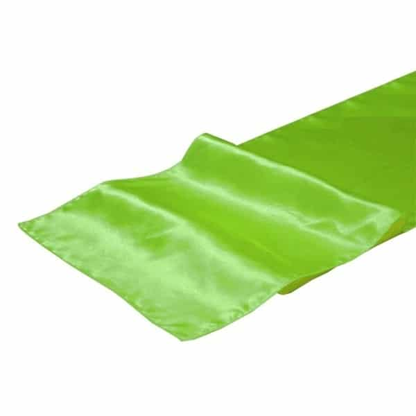 Satin Runner - Apple Lime Green