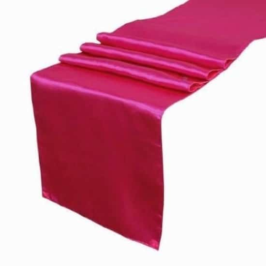 Satin Runner - Hot Pink