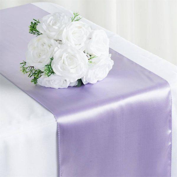 Satin Runner - Lavender Lilac