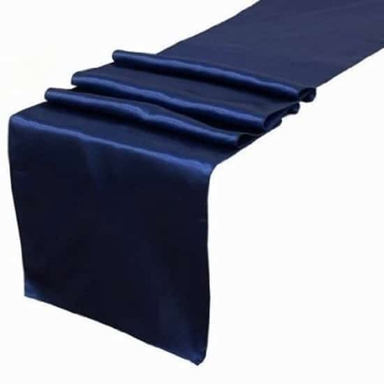 Satin Runner - Navy Blue
