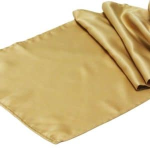 Satin Table Runner - Gold