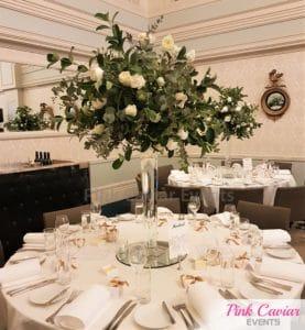 tall flower centrepiece wedding WM