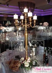 tall gold candelabra centrepiece WM