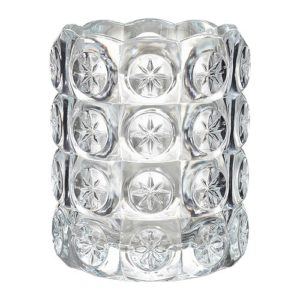 Tea light - Clear Patterned