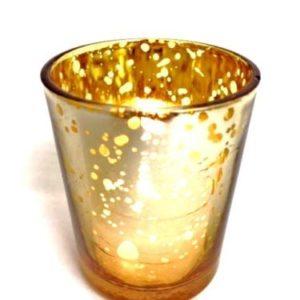 Tea Light - Mercury Gold