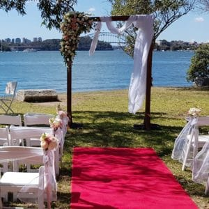 Timber Arch Wedding Ceremony