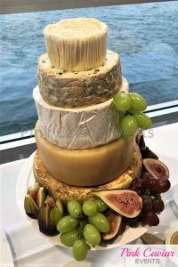 wedding cake fruit and cheese figs grapes WM