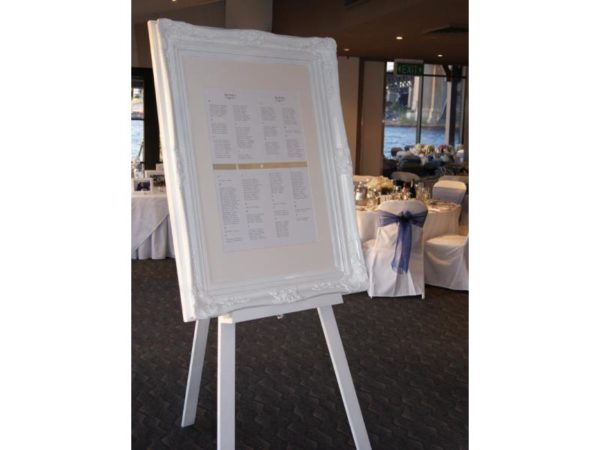 White Framed Guest Seating Chart