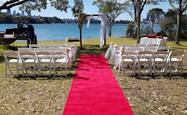 Wedding Ceremony Chairs Red Carpet Arch