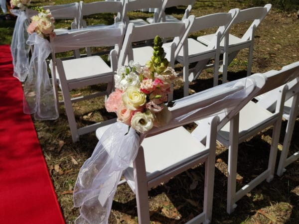 Aisle Chair Flowers Wedding Ceremony
