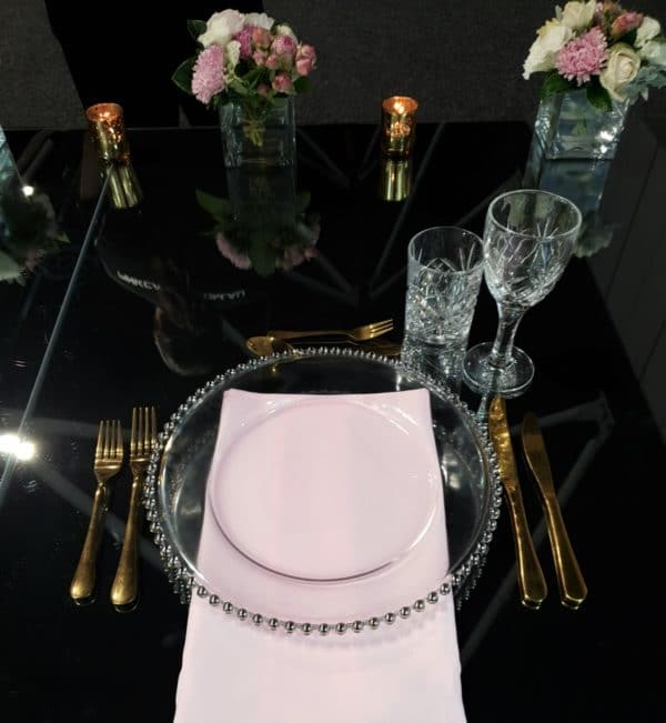 Charger Plates Gold Cutlery Crystal Glassware