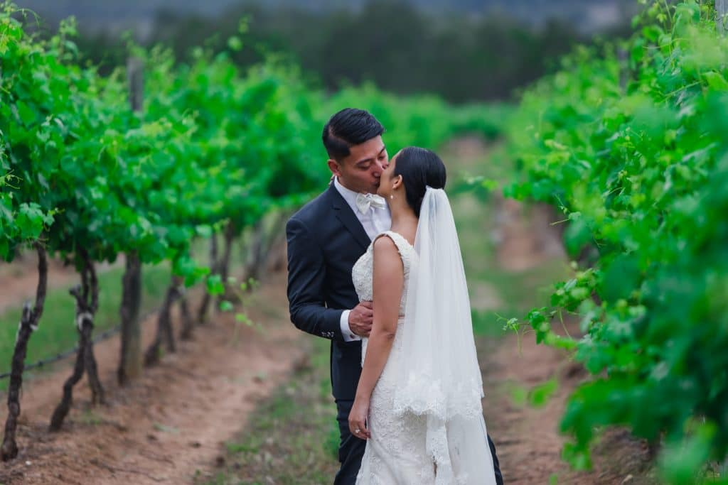 Hunter Valley Destination Wedding Vineyards Couple Bride Groom Kiss