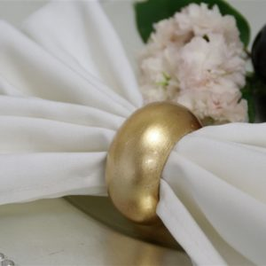 Gold Acrylic Napkin Rings
