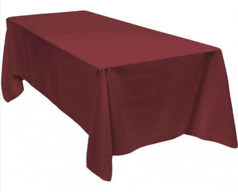 Table Cloth Burgundy Red Wine