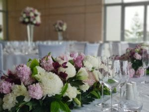 View from Bridal Table Flowers