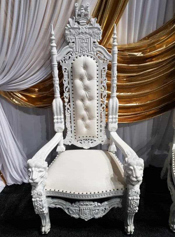 White Throne Birdal Chair