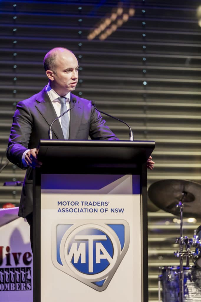 MTA NSW Recognition Dinner Gala Dinner Awards Night Charity Auction Motorcycle Innovation Minister Matt Kean