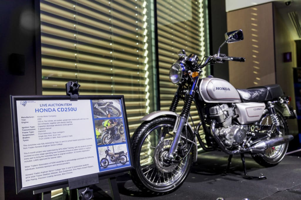 MTA NSW Recognition Dinner Gala Dinner Awards Night Charity Auction Motorcycle
