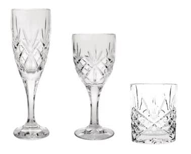 3pc crystal glassware set
