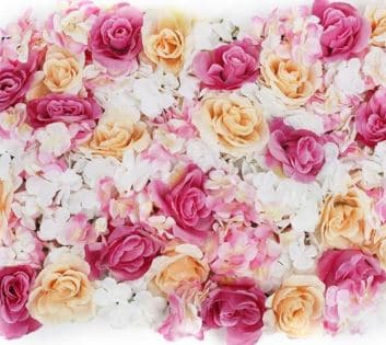White, Pink and Peach Flower Wall
