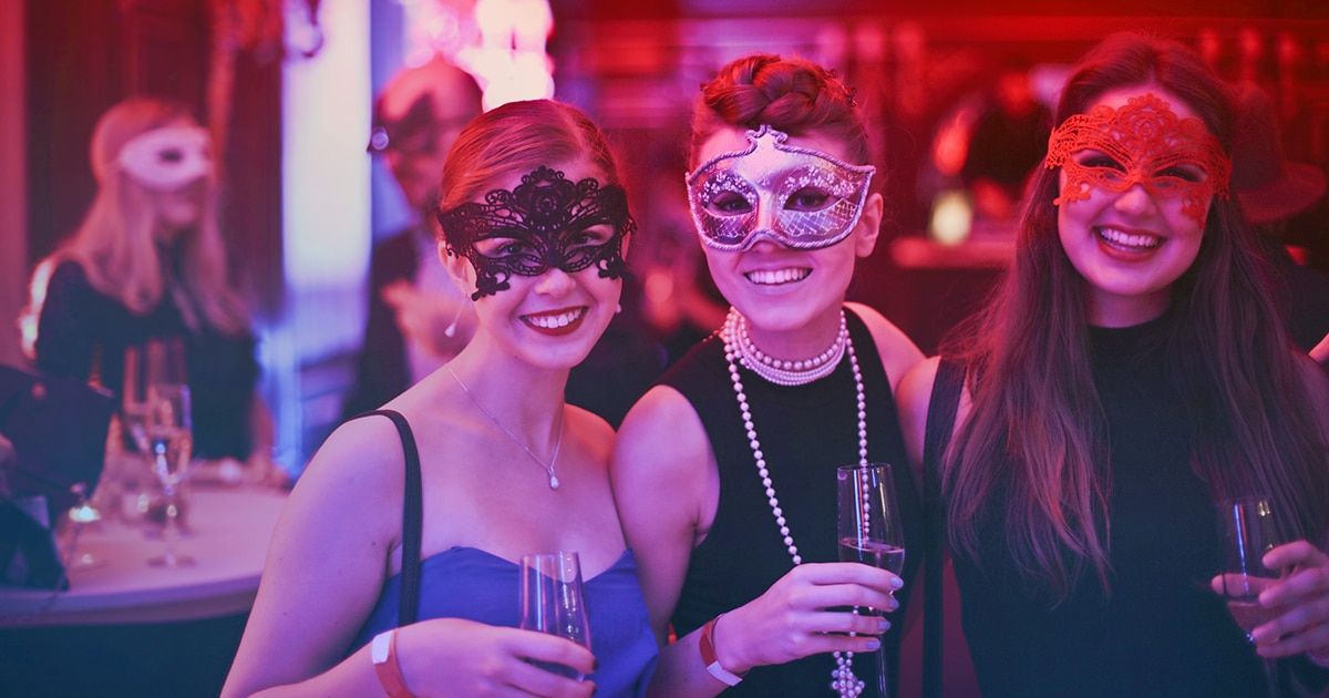 Christmas Party Early masquerade ball party women masks Christmas Party Early